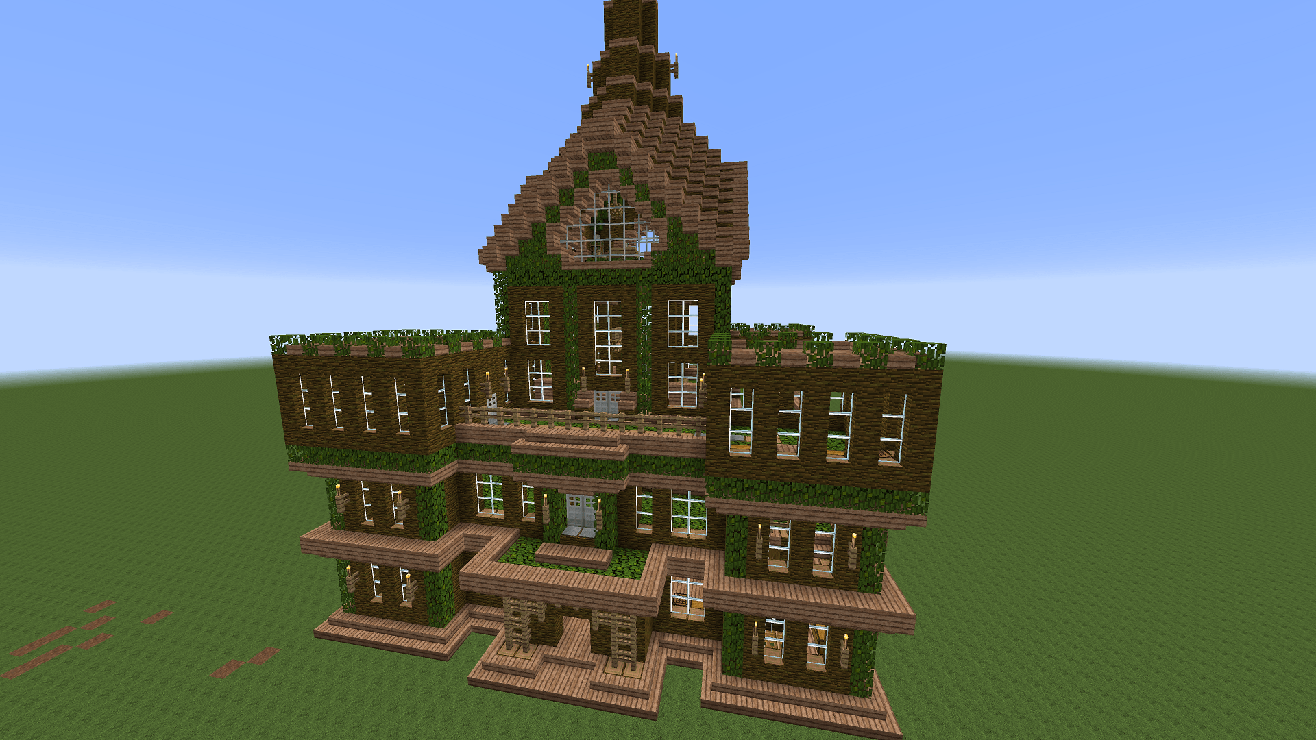 how to make a town on minecraft