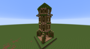 Minecraft Civcraft Elven Arrow Tower
