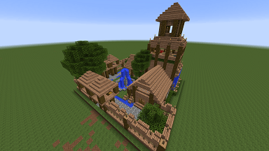 Minecraft Civcraft Elven Barracks