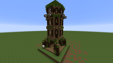 Minecraft Civcraft Elven Cannon Tower