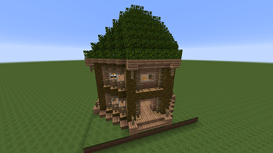 Minecraft Civcraft Elven Cottage