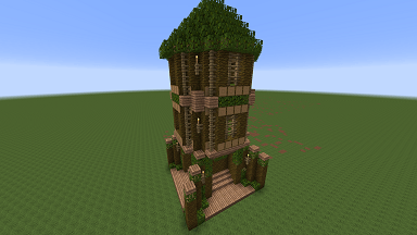 Minecraft Civcraft Elven Scout Tower