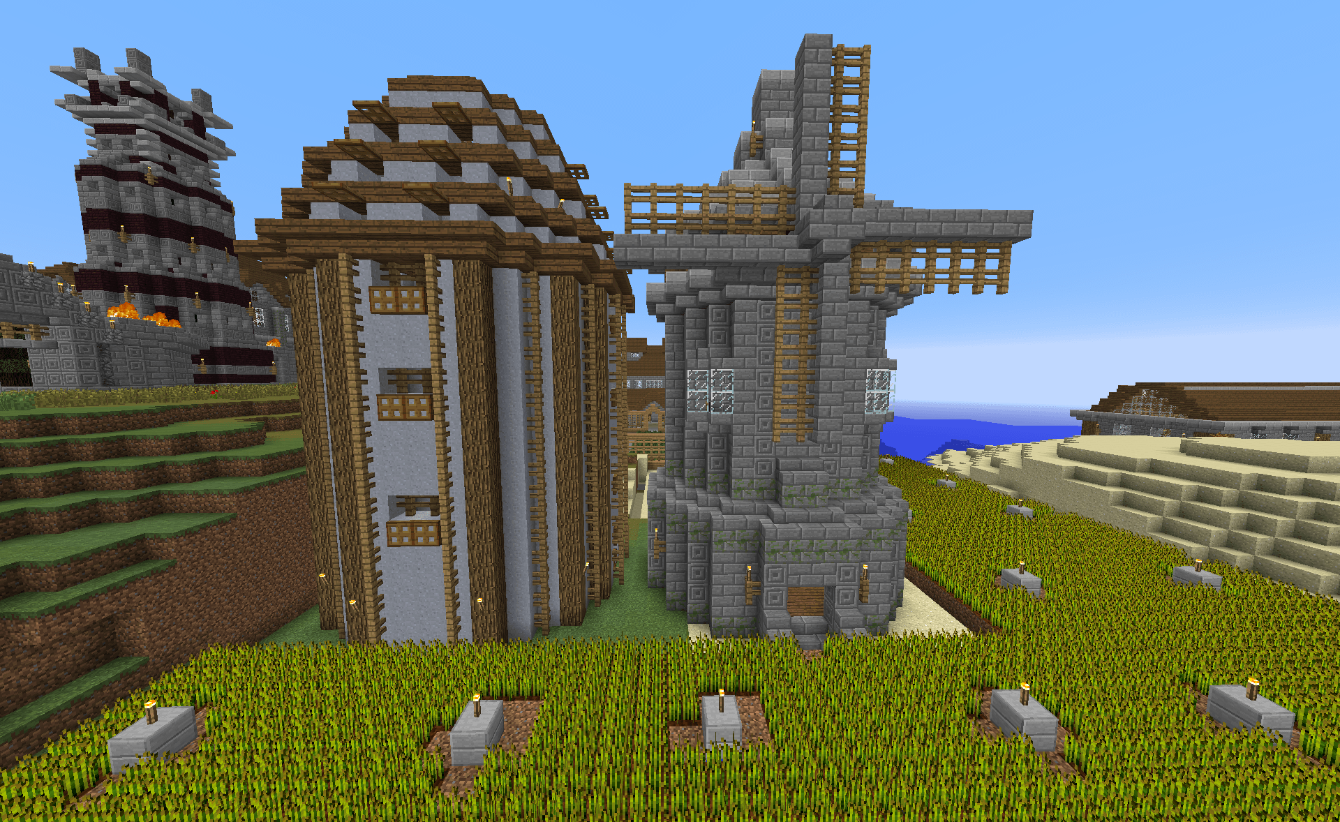 Minecraft Civil... Minecraft Windmill Farm