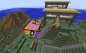 A Quaint Little Town on Towny Minecraft PVE Server