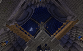 The view from inside spawn on Towny PVE Minecraft Server