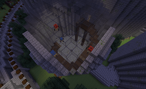 Minecraft Curved Staircase at Spawn on Towny PVE Server