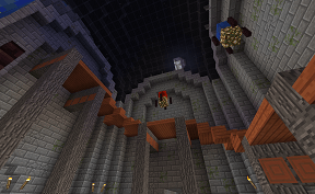 Another Minecraft Curved Staircase on Towny PVE Server