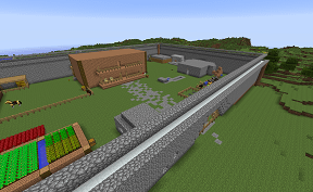 Starting out small on Towny PVE Minecraft Server