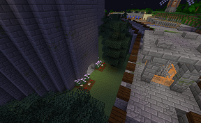 A Peculiar Shrubbery on Minecraft Towny PVE Server