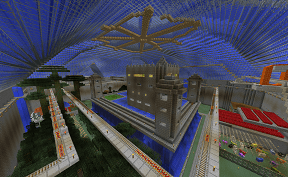 Water Covered Minecraft Atrium